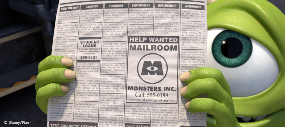 Monsters University - Help Wanted